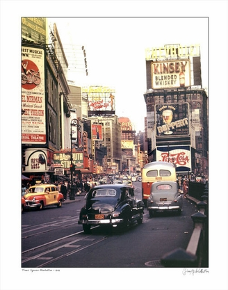 Times Square NYC Color 1948