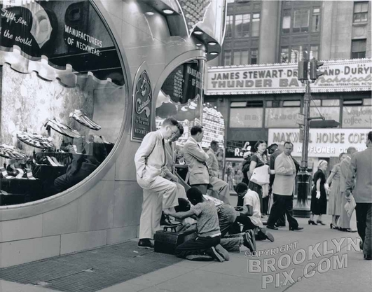 Times square shoeshine boys, 1953 Manhattan NY