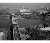 Triborough Suspension Bridge over Hells Gate