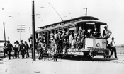Trolley at Brighton Beach Race Track, 1904