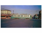 Trolley passing down Church Avenue - Flatbush Brooklyn, NY  1956