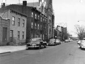 Twenty-fourth Street looking northwest from Fourth Avenue, 1956