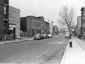 Twenty-second Street looking northwest to Fourth Avenue, 1956