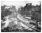 Union Square Park - under construction -July 1902 - New York, NY
