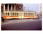 Unionport Trolley in front of the Riverside Church