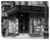 United Cigar 7th Avenue between 38th & 39th Streets Midtown Manhattan 1914
