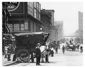 upclose shot of 7th Avenue & between 23rd & 24th Street - Manhattan  1914