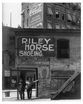 Upclose shot of Riley Horse Shoe co. & Iron Works on 7th Avenue  - Midtown Manhattan - 1914