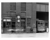 Upclose shot of Trolley Depot at Lenox Avenue - Harlem NY 1922
