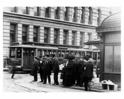 Upclose train shot - Station entrance Madison & 42nd Street  - Murray Hill Manhattan - New York, NY 1910