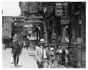 Upclose view of 6th Ave at 14th Street Train station Greenwich Village Manhattan, NY  1918
