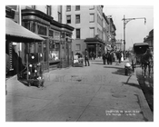 Upclose view of 8th Avenue & West 30th Street - Chelsea - Manhattan  1914