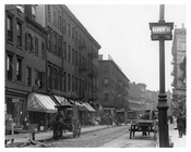 Upclose view of Barrow & Bleecker Streets - Greenwich Village - Manhattan - NYC 1914