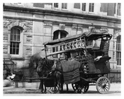 Upclose view of horse & wagon on Lenox Avenue & 135th Street Harlem, NY 1910