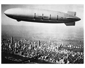 USS Macon over Manhattan