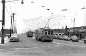 Utica Avenue looking north from Avenue N, 1951