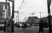 Utica Avenue north from Church Avenue, 1951