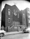 Vandalized former synagogue at 49 Watkins Street, 1953