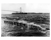 Verrazano Bridge with Belt Pkwy Flooding