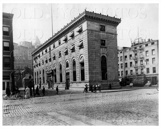 View of Police Station in Old Slip Front St Manhattan NYC 1914 old ...