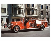 Vintage FDNY Fire truck - 5th Avenue Parade 1960s Manhattan