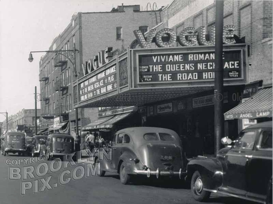 Vogue Theater, east side of Coney Island Avenue, south of Avenue K, 1940s