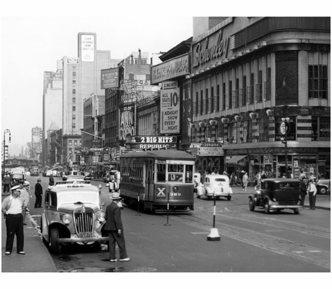 West 42nd Street - Times Square  late 1930's