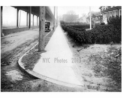 West sidewalk of Gravesend Ave, looking south from Ave S -  1922