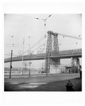Williamsburg Bridge 1948 as seen from Broadway & Kent Brooklyn, NY