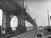 Williamsburg Bridge from the Brooklyn side, 1940s