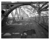 Williamsburg Bridge - Pedestrian walkway 1980s  - Brooklyn, NY