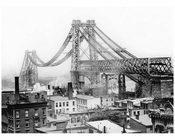 Williamsburg Bridge under construction -  Brooklyn, NY
