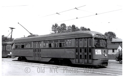 Worlds Fair trolley to Flushing 1939