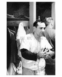 Yogi Berra in the Yankees Locker Room 1957 NYC