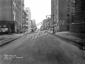York Street looking east from under the Manhattan Bridge overpass, 1930