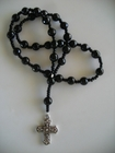 Black Faceted Onyx 8mm  (Anglican)