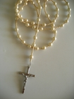 Creamy Cream Glass Pearls 6mm (Catholic)