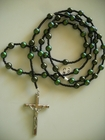 Dark Green Pearls: Swarovski Crystal mixed with Glass 6mm (Catholic)