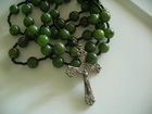 Dark Olive Green Jade 10mm (Catholic)