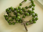 Dark Olive Green Jade 8mm (Catholic)