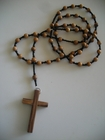 Jerusalem Olive Wood 6mm (richly-grained cross)