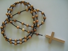Jerusalem Olivewood 8mm w/Cross (Catholic)
