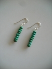 Matching Earrings: Green Turquoise Discs