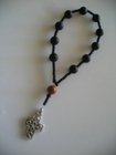 Matte Black Onyx and Red Jasper 6mm