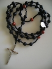 Matte Black Onyx and Red Jasper 8mm (Catholic)