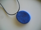 """Swoondimple's """"Live in the Sunshine"""" Pendant on Black Leather"""