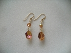 Swarovski Copper Crystal with Faceted Rounds