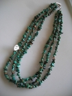 Three Strands :: Green Turquoise Chips