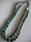 Two Strands :: Blue Turquoise Nuggets