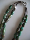 Two Strands :: Green and Brown Turquoise
